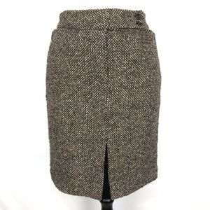 The Limited Wool Blend Tweed Slit Pencil Skirt 4
